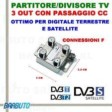 PARTITORE 3 USCITE / SPLITTER SAT / DIVISORE TERRESTRE E SAT MARCA GESER 410051