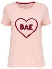 85/22 NEU ONLY Damen T-Shirt Top onlMADISON S/S BAE/QUEEN TOP BOX ESS Gr. M