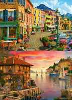 500 Pieces Jigsaw Puzzle - 2 x 500 Pcs - Marina, Boats & Harbour - Brand New