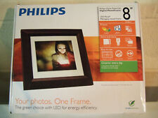 "Philips 8""  Mahogany Digital Picture Frame NEW Unopened"
