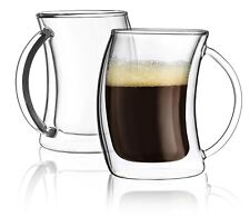 200ml Insulated Double Wall Glasses Mugs hot milk coffee espresso cups Set of 2