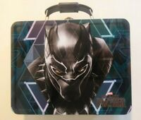 Black Panther Embossed Face Tin Lunch Box Pencil Art Case Marvel Collectible