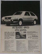 Advert Pubblicità 1982 SUBARU LEONE COUPE' 3P