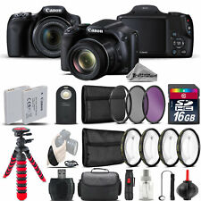 Canon PowerShot SX530 HS Digital Camera + Tripod  + EXT BAT + Filter - 16GB