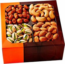 Five Star Gift Baskets Holiday Gift Basket, Gourmet Food Nuts, 4 Different