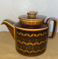 Vintage 1972 HORNSEA Brown Heirloom Teapot Tea Pot England John Clappison