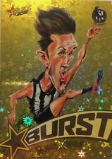 2018 SELECT DARCY MOORE FOOTY STARS YELLOW STARBURST #SBY-15 COLLINGWOOD CARD