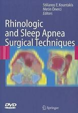 Rhinologic and Sleep Apnea Surgical Techniques by Metin Önerci (2007, Mixed...