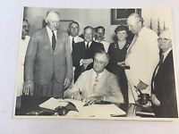 "Vintage Photo of President Franklin Roosevelt signing Document 8"" x 10"""