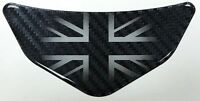 UK Carbon Fibre effect Car - Motorcycle Chevron Sticker HIGH GLOSS DOMED GEL