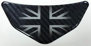 UK Carbon Fibre effect Car - Motorcycle Chevron Sticker HIGH GLOSS DOMED GEL