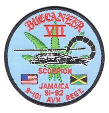Army Patch:  9th Battalion, 101st Aviation Regiment, Jamaica 91-92