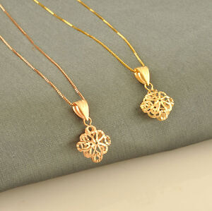 Pure 18K Gold Chinese Knot Pendant / (Yellow or Rose, choose it) Stamp Au750
