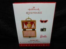 "Hallmark Keepsake ""Picnic Set - Barbie"" 2016 3 Limited Edition Ornaments NEW"