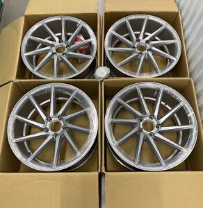 """5x112 - 19"""" Vossen CVT Satin Silver Concave Wheels Rims Fits Mercedes C-Class"""