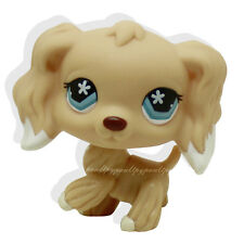 #748 Rare Littlest Pet Shop Brown Cocker Spaniel Dog Flower Eyes Animal Toy LPS