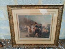 """Gravure anglaise sur papier """"Bonaparte Reviewing the Consular Guards"""", 19EME"""