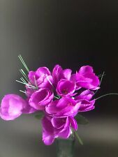 Home Decor Crocus Bunch Artificial Flowers Purple