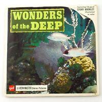 Vintage View-Master Reel Set Packet B612 WONDERS OF THE DEEP Underwater Sea Life