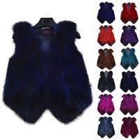 100% Real Genuine Fox Fur Vest Gilet Waistcoat Jacket Coat Ladies Vintage Luxury