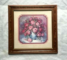 Home Interiors Homco Julia Crainer Roses Roses Roses Shabby Picture 18 X 18