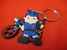 PORTE-CLÉS  POLICE NATIONALE-MOTO- en gomme plastifiée- KEY HOLDERS-钥匙圈-KEY RING