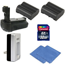 Battery Grip For D7000 SLR Camera + Two ENEL15 Batteries + 32GB Accessory Kit