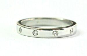 Round Diamond Eternity Band Ring Platinum 950 .20Ct Size 6.5 3mm
