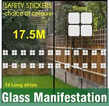17.5 M  Safety Stickers Etch Effect Rounded Squares Frost Glass Manifestation