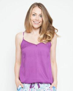 Ladies Mauve Purple Modal Cami Srappy Vest Pyjama Top RRP £18 ~ SIZE 20 22