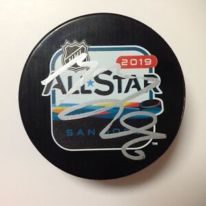 Mikko Rantanen Signed Autographed 2019 NHL All Star All-Star Hockey Puck b