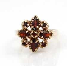 Vintage Estate Solid 10K Yellow Gold Red Garnet Ring Size 6.75