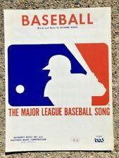 sheet music THE MAJOR LEAGUE BASEBALL SONG 1971/1973 reprint - NEW!