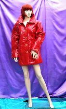 XL) Dennis Basso Ladies GLOSS RED PU PVC smart Fashion Raincoat Mackintosh  T/V