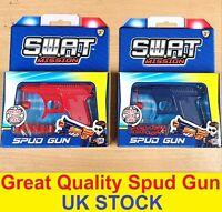 2x Metal Spud Guns Die Cast Retro Potato Water Pistol Toy Gun Vintage Sure Shot