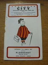 11/03/1967 Bradford City v Aldershot  (Rusty Staple/Mark). Item In very good con