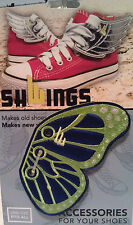 SHWINGS Butterfly BLUE LIME wings shoes official designer Shwings NEW 50108