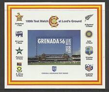 GRENADA 2000 LORD'S CRICKET 100th CENTENARY TEST MATCH Souv Sheet MNH