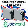 2 Black Cartuchos de tinta compatible con LC970 / LC1000 [not Brother original]