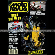 MOTO REVUE N°2860 YAMAHA FZR 1000 FZX DRAGSTER TRIUMPH T110 DUHAMEL BOL OR 1988