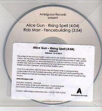 (CH957) Alice Gun, Rising Spell / Rob Marr, Fencebuilding - 2012 DJ CD