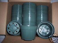 """4"""" Azalea green plastic pot @@ greenhouse nursery planter outdoor indoor 15 lot"""