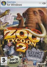Zoo Tycoon 2 Extinct Animals PC XP/VISTA SEALED NEW