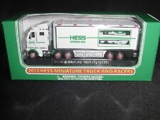 2013 Hess Truck Mini 18-Wheeler And Race Cars New In Box