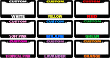 PINK letters your choice CUSTOM PERSONALIZED License Plate Frame COLOR CHOICE