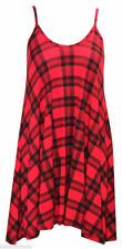 Women Ladies Plus Size Printed Strappy Sleeveless Ladies Mini Vest Dress