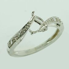 Semi Mount Eternity Ring Heart Shape 6 MM Sterling Silver Engagement Top Jewelry