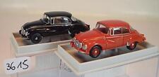 Brekina 1/87 2 x Auto Union 1000S Limousine 28010 rot & 28011 schwarz OVP #3615