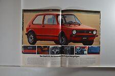 VW Volkswagen GOLF 1 GTI GL L D LD GLD GL Prospekt 01/1977