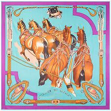 "Women's Fashion Printed Twill Silk Beige Square Scarf of Horses Shawl 51""*51"""